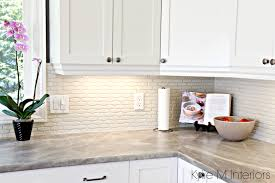 cloud white cabinets hexagon subway tile backsplash formica