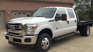hd video 2011 ford f350 xlt crew cab 4x4 6 7l diesel cm flat bed