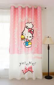 Curtain Cartoon by New 3d Blackout Curtains Pink Hellokitty Pattern Velvet Fabric
