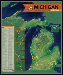 Map Of Grand Rapids Michigan by Map Of Michigan Breweries Michigan Map