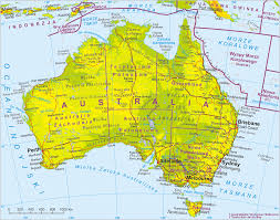 New Zealand Map Physical Map Of Australia And New Zealand Travelsfinders Com