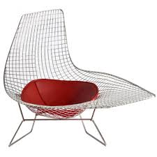 harry bertoia wire asymmetric chaise replica commercial furniture