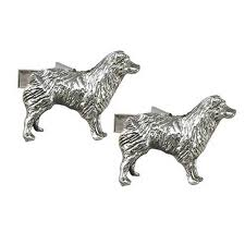 australian shepherd newfoundland sterling silver australian shepherd cufflinks sterling silver