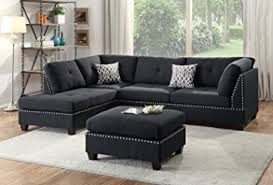 Sofa And Sectional Modern Contemporary Polyfiber Fabric Sectional Sofa