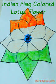 Simple Lotus Flower Drawing - indian flag painting ideas lotus flower drawing sparklingbuds
