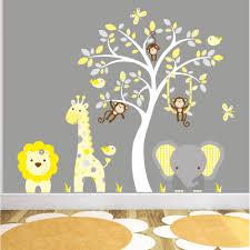 Bedroom Jungle Wall Stickers Jungle Animal Nursery Wall Art Stickers