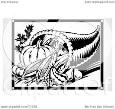 thanksgiving cornucopia clipart royalty free rf clipart illustration of a black and white