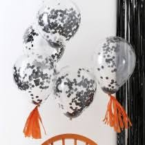 halloween party balloons including confetti balloons from