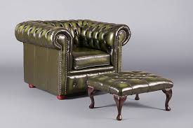 Green Chesterfield Armchair Chesterfield Footstool Green Stools Furniture On The Move
