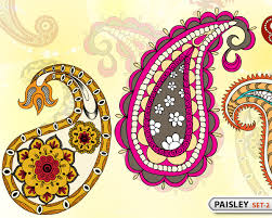 paisley designs set 2 vector photoshop brushes stock graphic