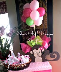 monkey theme baby shower monkey centerpiece with balloon