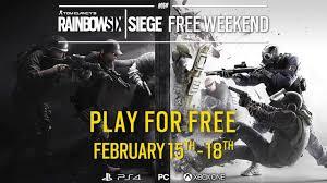 pca siege tom clancy s rainbow six siege announces free play weekend starting