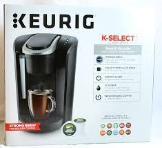 espresso coffee brands keurig k select single serve k cup pod coffee maker matte black