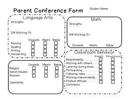 best 25 parent teacher conference forms ideas on pinterest