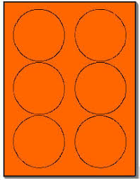 33 Labels Per Sheet Template by 600 Labels 3 33 Fluorescent Neon Orange Circle Stickers 6