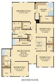 Floor Plans With Furniture Second Floor Lantana Home Lennar At Palencia Floor Plans By