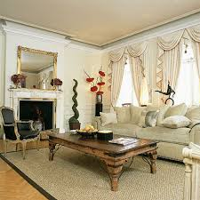 living room white wall with fireplace and curtains combined by