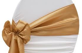 gold chair sashes taffeta chair sash tie gold chair sashes chair bows and event