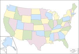 United States Blank Outline Map by United States With Alaska And Hawaii Free Map Free Blank Map