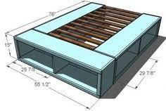 Bed Frame Plans With Drawers 18 Gorgeous Diy Bed Frames Diy Storage Bed Diy Storage And