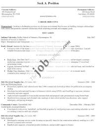 Resume Sample Job Objective by Sample Resume Career Objective For Freshers