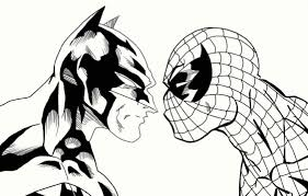 batman and spiderman coloring pages funycoloring