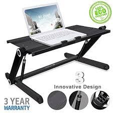 Ergonomic Standing Desk Height Amazon Com Portable Laptop Desk Height Adjustable Aluminum