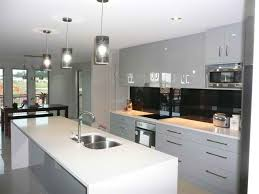 gallery kitchen ideas excellent modern white galley kitchen ideas with lighting