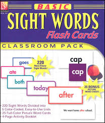 Words Cards Basic Sight Words Flash Cards 013751 Details Rainbow Resource