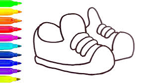 baby shoes drawing for children how to draw coloring pages for