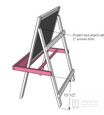 Ana White Painter U0027s Ladder by Ana White Toddler Chalkboard Easel Diy Projects
