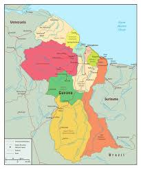 guyana on world map large political and administrative map of guyana with roads and