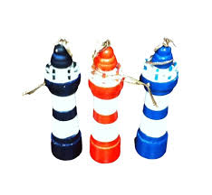 set of 3 lighthouse ornaments 14364