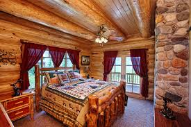 log beds for a completely rustic vibe in your bedroom