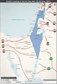 Sinai Peninsula On World Map by Map Of The Events Leading To The Six Day War 1967