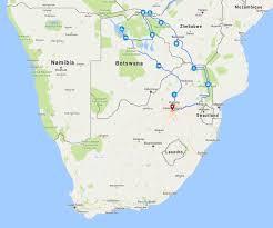 Botswana Map 17 Days Botswana U0026 Zimbabwe Wildlife Africa4us