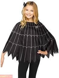 child spider web poncho cape girls boys halloween fancy dress