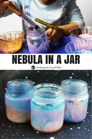 nebula in a jar craft crafts for kids crafts and tea lights