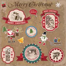 christmas labels free vector in adobe illustrator ai ai
