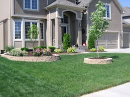 modern front yard landscape with concrete pad driveway hgtv amys