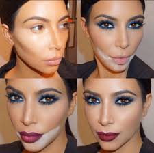 kim k looks just as weird as you do in contouring make up