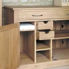 Light Oak Furniture Mobel Oak Hidden Home Office Workstation Wooden Furniture Store