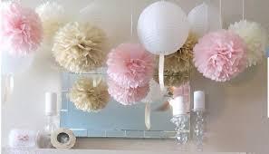 Pom Pom Decorations Hanging Pom Pom Decorations Ez Fluff 6 Light Pink Hanging Tissue