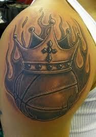 upper sleeve cool crown basketball tattoo tattooshunter com