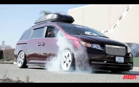 cambered smart car 1000 hp bisimoto honda odyssey van burnouts youtube