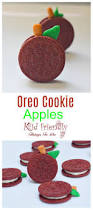 make a simple and fun apple food craft treat from an oreo cookie