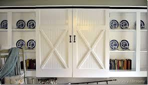 Barn Door Cabinets Remodelaholic Barn Door Cabinet
