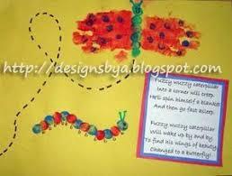 may handprint butterfly and thumbprint caterpillar fun handprint art