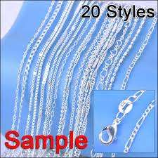 chain necklace styles images Jexxi jewelry sample order 20pcs mix 20 styles 18 quot genuine 925 jpg