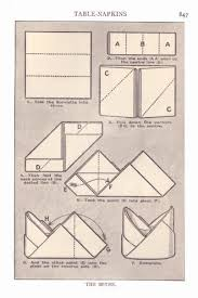 how to make table napkins food history fashion and fads napkin folding pictures from mrs